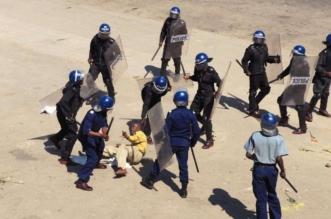 zimbabwe police beating reporters